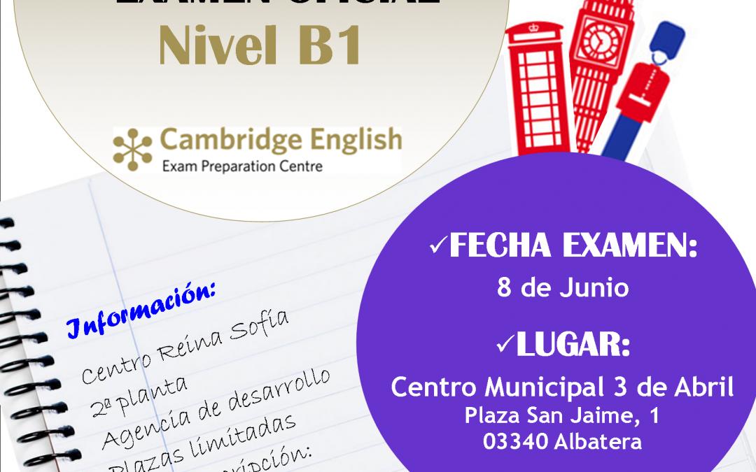 Examen Oficial Nivel B1 de Inglés