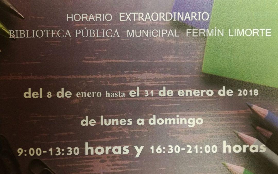 La Biblioteca Pública Fermín Limorte amplía su horario en época de exámenes