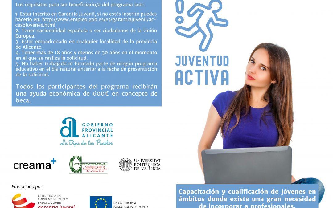 Continúa tu formación con el programa «Juventud Activa»