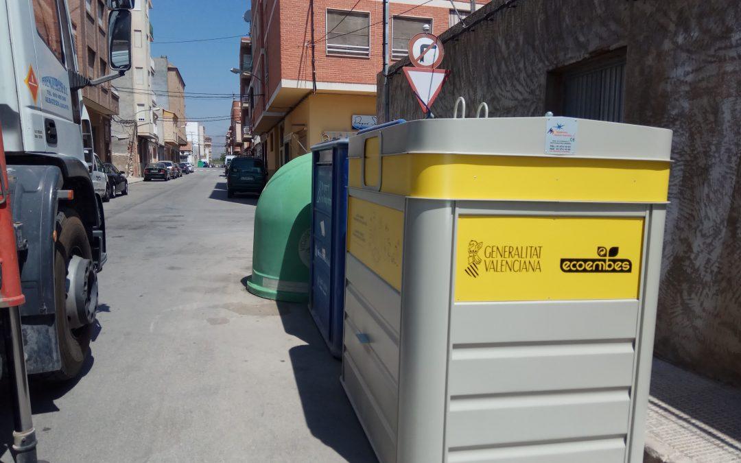 Ubicación de los nuevos contenedores amarillos