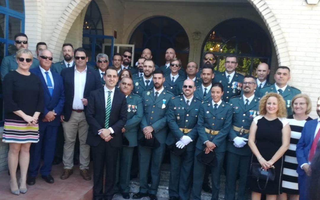 Celebración de la festividad de la Virgen del Pilar, patrona de la Guardia Civil.