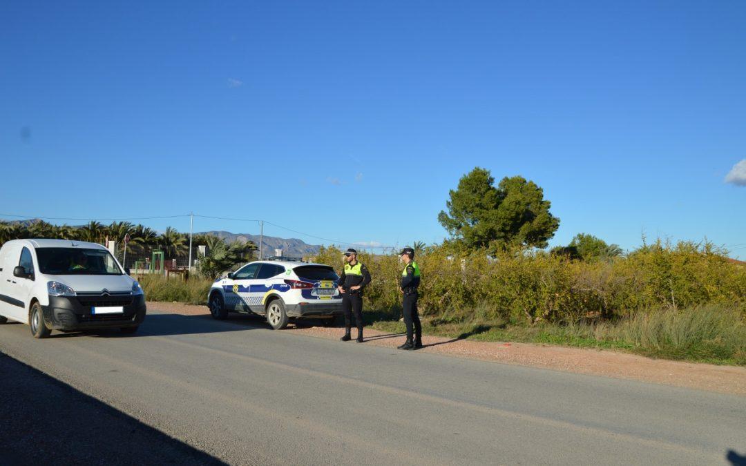 La Policía Local de Albatera finaliza con éxito el incremento de las patrullas rurales durante la campaña de la granada