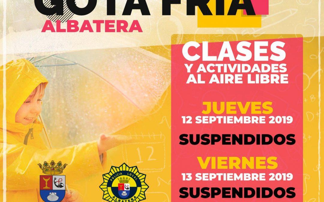 Decreto de suspensión de actividades en Centros Educativos por Alerta Meteorológica