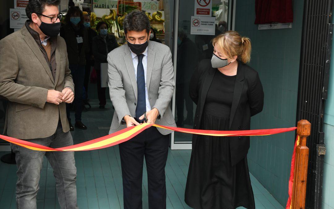 El presidente de la Diputación de Alicante inaugura el Mercado de Abastos Municipal de Albatera