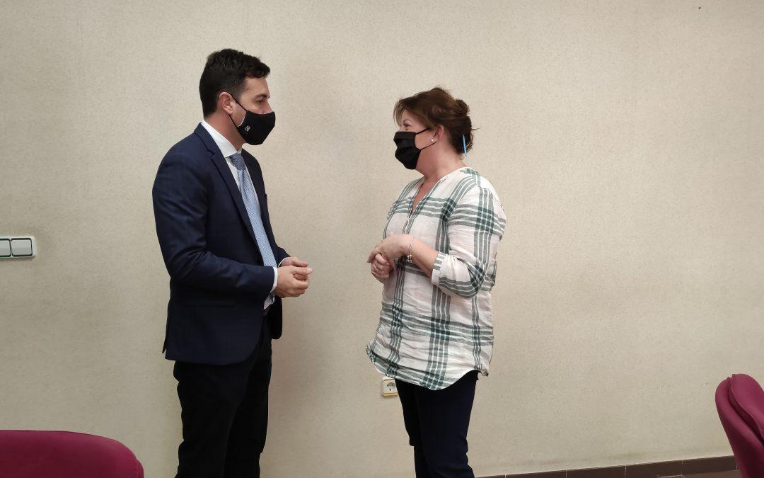El diputado provincial de Medio Ambiente, Miguel Ángel Sánchez, visita Albatera